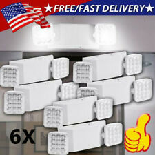 6x Led Emergency Exit Light Double Dual Head Home Office Market Ul Lighting Lamp