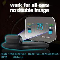 """5.1"""" Car Head Up Display OBD2 GPS Dual Model HUD Projector Speedometer MPH KM/h"""