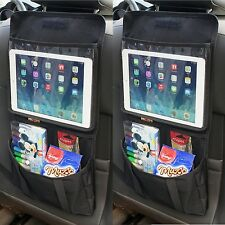 2 x Back Seat Tablet Holder Organiser Car Passenger Storage Pockets iPad Headres