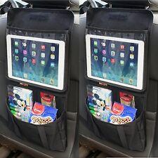 2 X Tablet asiento trasero titular organizador bolsillos de almacenamiento de pasajeros de coche ipad headres
