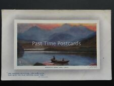 Wales SNOWDON FROM CAPEL CURIG Fishing c1911 by Raphael Tuck 9759