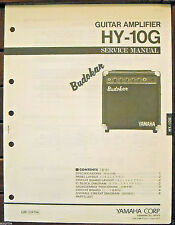 Yamaha HY-10G Budokan Guitar Amplifier Original Service Manual, Schematics Book