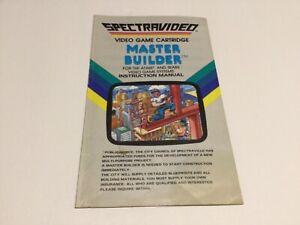 Atari 2600  Master Builder Spectravideo  Original Game Instruction Manual