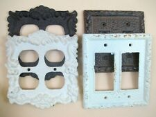 Baroque Victorian Style Cast Iron Electrical Outlets Switches Wall Plates