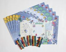 SET OF 5 ALIEN PLACEMATS AND CRAYONS FREE SHIPPING