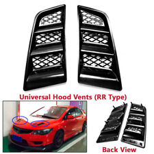 1 Pair Universal Car Auto ABS Hood Scoop Bonnet Air Flow Vent Cover Duct RR Type