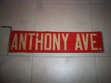 Nyc Bus Sign Ny Loft Art Red Bronx West Farms Anthony Avenue Vintage Roll Sign