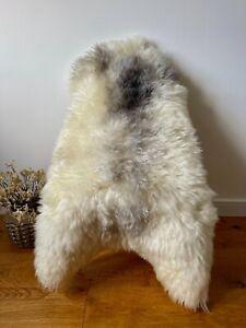 XL Large Genuine Merino Sheepskin Sheep Rug Natural White/Ivory/Cream/Grey Fur