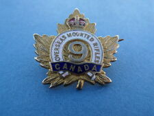 WW1 CEF Overseas Mounted Rifles Canadian Gilt & Enamel Sweetheart Brooch Badge