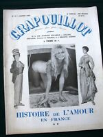 Le Crapouillot- History of Love in France - 1960 French Satire Magazine