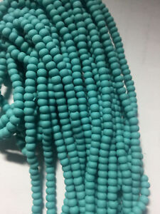 6/0 Frosted Matte AB Luster Opaque Czech Seed Beads