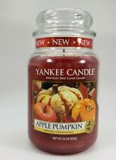 "Yankee Candle Retired ""APPLE PUMPKIN"" Large 22 oz White Label RARE New"