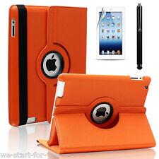 360° Schutz Hülle+Folie für iPad 2 & 3 & 4 Kunstleder Tasche Smart Cover Case O
