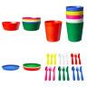 Ikea Kalas  Children Kids 36 piece dinnerware Plastic  Multi-Color   NEW