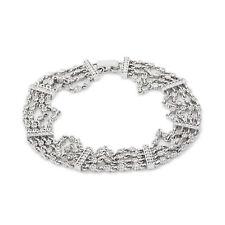 "14K White Gold 1.78 CT Diamond 4 Row Bracelet 18.5 Grams Women's 6.5"""