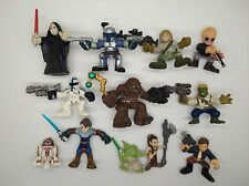 12PCS Star Wars Galactic Heroes Yoda BOBA FETT LEIA Chewbacca R2-D2 E13Z