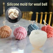 3D Yarn Ball Shape Candles Mould Soap Aromatherapy Candle Making Wax Molds Diy