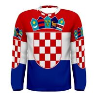 New Croatian Flag Men's Long Sleeve T-shirt S,M,L,XL,2XL,3XL Free Shipping