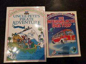 2 Usborne Puzzle Adventures Books. Home Education. Stories with puzzles.