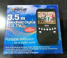 Digital Prism 3.5 In Handheld Digital ATSC LCD TV with built in FM Radio.