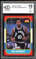 1986-87 Fleer #41 David Greenwood Card BGS BCCG 10 Mint+
