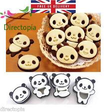 Set di 4 PANDA Cookie CUTTER STAMPO BISCOTTI Super Kawaii cute PASTICCERIA TORTE