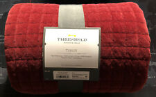 New Threshold Berry Quilted throw blanket Cotton 50 x 60