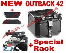 BAULE TREKKER OBK42B OUTBACK 42 LT. + PIASTRA SR689 BMW R 1200 GS 04-12 + E157