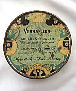 Vintage Vernafleur California Perfume Co Vanity Makeup Adherent Powder Box