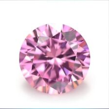Pink Sapphire 10mm 6.16Ct Round Faceted Cut Shape AAAAA VVS Loose Gemstone