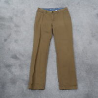Eddie Bauer Legendary Wash Women's Straight Leg Tan Khakis Pants Size 14 (36x34)