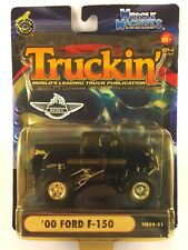 Muscle Machines Truckin' 2000 '00 Ford F-150 Black Pickup Die-cast 1/64 TM04-21