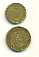 2 DIFFERENT COINS from SOUTH AFRICA - 10 & 20 CENTS (BOTH DATING 2008)