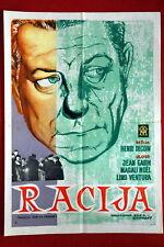 RAZZIA JEAN GABIN LINO VENTURA FRENCH 1955 RARE EXYU MOVIE POSTER