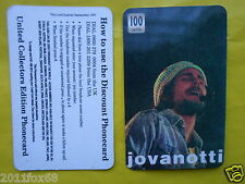 1997 phone cards 100 units jovanotti cherubini schede telefoniche telefonkarten