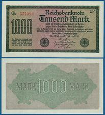 1000 Mark 1922 fast KASSENFRISCH / aUNC  Wz. Wellen  Ro.75 q