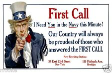 U S NAVY WWI Recruiting Poster James Montgomery Flagg UNCLE SAM Answer The Call