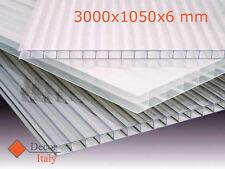 Decor-Italy Alveolare MAKROLON Lastra Policarbonato 3000x1050x6mm 2 Pareti - Transparente