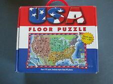 USA Floor Puzzle By Five Mile Press Size 32.5 x20.5 in. Ages 3-5 years E.U.C.