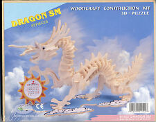 NEW DRAGON SMALL WOODCRAFT CONSTRUCTION  KIT 3-D PUZZLE