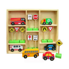 Fun Factory Wooden Cars & Aussie Traffic Signs Set  Learning Toy