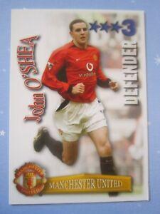 John O'Shea of Manchester United - Shoot Out 2003/04 card