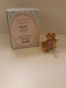 CHERISHED TEDDIES 824429 FEBRUARY ANGEL ON CLOUD MINI FIGURINE