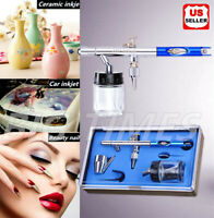 Dual Action Airbrush Kit 0.35mm Nozzle Spray Gun Siphon Feed Hook Tattoo Paint
