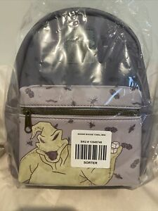 Loungefly Disney Nightmare Before Christmas Oogie Boogie Grey Gray Mini Backpack