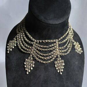 Antique Indian Rajasthan Choker/Necklace - Sterling Silver