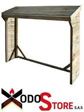 Casetta in legno porta legna Pino PIRCHER LEGNAIA - cm 217 x 80 x 180 h - SCONTO