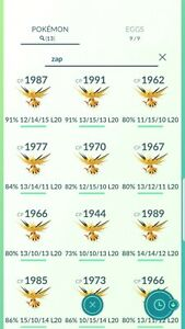 Pokemon Legendary Go Zapdos Same Day Trade Or 30 Day