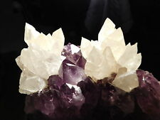 TWO! BIG! Calcite PINEAPPLE Crystal Clusters on A BIG Amethyst Cluster 3158gr e