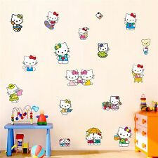 Hello Kitty Wall Stickers Reusable & Transparent Kids Nursery Vinyl Decals